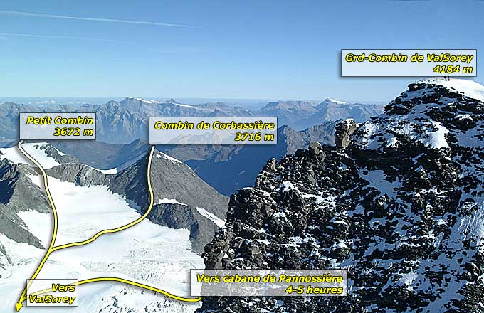 Voies Grand Combin