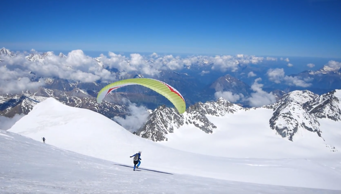 Grand Combin Climb and Fly